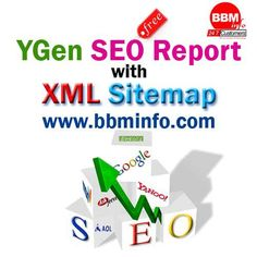 Creating XML Sitemap is easy with our BBM YGen online XML Sitemap generator (Beta Version). To get xml sitemap generated simply type in your URL and on the next page make selections for 2 optional parameters - page changing frequency, last modified date and page priority. BBM YGen is a SEO tool to analyse a website with varoius metrics. BBM YGen SEO Report has the budles of metrics like Web Traffic, Broken Links, Link Juice, etc.,