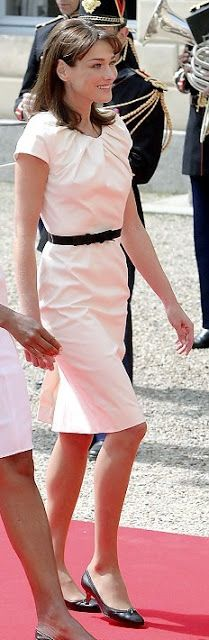 Carla Bruni Sarkozy in Dior and Michelle Obama in Narciso Rodriguez at D-Day landing memorial ceremony in France - June 2009