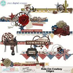 Ride Em Cowboy Edges by CKCreative #pdw #digitalscrapbook #scrapbook #digital #edges #borders #CKCreative