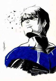 thehappysorceress:   Nightwing sketch by dark gates