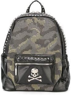 PHILIPP PLEIN 'Night Knight' Backpack. #philippplein #bags #leather #crystal #backpacks