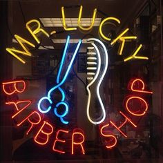 Mr Lucky Barber Shop Neon Sign Real Neon Light Z1316