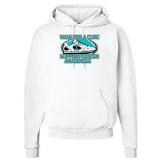 Get moving and take a walk to support a cause with Ovarian Cancer Walk For A Cure Hooded Sweatshirts  #CureOvarianCancer #OvarianCancerAwareness #WalkForACure