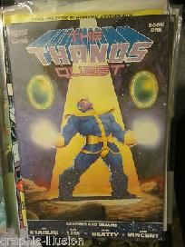 Thanos Quest Book One Jim Starlin, DELUXE FORMAT also: Lim, Tom Vincent comics Free Shipping http://graphic-illusion.com $35