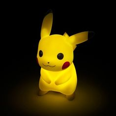 As far as electric rodents go, nobody lights up as bright as Pikachu. ThinkGeek is harnessing the Pokémon mascot's power with this adorable Pikachu light. ThinkGeek Any dark room gets Pokemon Decor, Pokemon Room, Pikachu Pikachu, Boy Room, Kids Room, Mood Light, Room Setup, Game Room, Decoration