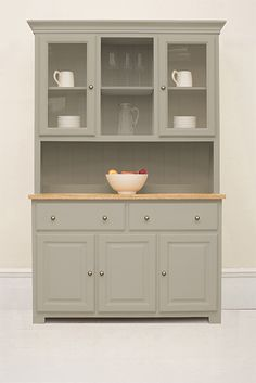 The Studio 025 Welsh Dresser painted in Saltmarsh from The Kitchen Dresser Company. Decor, Furniture, Kitchen Furniture, White Bedroom Furniture, Vintage Bedroom Furniture, Cabinet, Home Decor, Kitchen Furniture Design, Kitchen Dresser