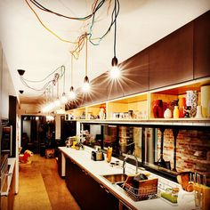 These lights from Sweedish Designer @nudcollection bring so much life to this kitchen renovation we did recently! Check them out for beautiful and colourful textile cords combined with lamp holders and sockets made from natural materials like copper and concrete. Installed by @theelectriccrew #nudcollection #lights #living #electrician #featurelighting #design