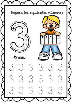 Grafomotricidad números del 1 al 10 gines  Relacionado Preschool Writing, Numbers Preschool, Preschool Learning Activities, Grade R Worksheets, Kindergarten Math Worksheets, Math 4 Kids, Pre Writing, Kids Education, Alaia