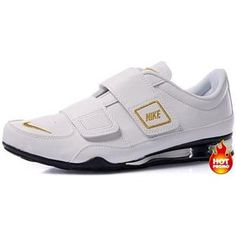 Mens Nike Shox R3 Velcro White Gold Black Mens Nike Shox 9e7abb500