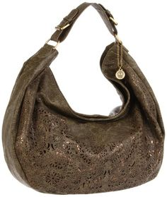 $82.10-$94.95 One strap hobo with laser cut detailing with metallic under-lay
