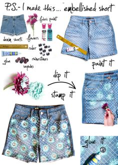 A fantastic DIY tutorial on how to make shorts like the ones Rosie Huntington- Whitley wore at Coachella 2012
