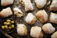 Chewy rolls perfect for savory sandwiches. Biscuits, Olive Bread, Sandwiches For Lunch, Breakfast Sandwiches, Dough Ingredients, Breakfast Toast, King Arthur Flour, Bread Baking, Yeast Bread