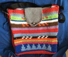Maxi bolsa. Cordón algodón . Crochet