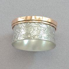 David Tishbi Paisley Rose Edge Spinner Ring