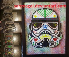 Star Wars Sugar Skull Stormtrooper perler beads by sanzosgal
