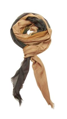 Blue Pacific Dream Cashmere & Silk Scarf in Slate Gray & Tan Camel     Clothing, Shoes & Accessories, Women's Accessories, Scarves & Wraps   eBay!