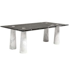 Chic Black and White Marble Coffee Table | From a unique collection of antique and modern coffee and cocktail tables at https://www.1stdibs.com/furniture/tables/coffee-tables-cocktail-tables/