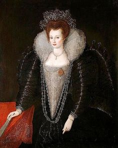1570 Venetian Noble Women at Age 18 by Giovanni Antonio Fasolo ca. 1595 Catherine Killigrew by ? (Colchester and Ipswich Museums Service Lady Catherine wears 'high' Elizabethan dress with huge puff...