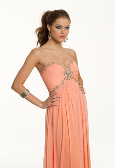 Prom Dresses 2013 - Long Grecian Beaded Prom Dress from Camille La Vie and Group USA