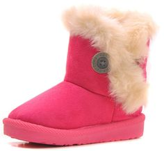 Femizee Girls Boys Warm Winter Flat Shoes Bailey Button Snow Boots(Toddler/Little Kid),Hot Pink,7 M US Toddler. Warm Tips: Use faster shipping way to ship our item, usually take about (1-3 weeks around) Delivery. Soft, flexible, hight quality Breathable Synthetic Leather shoe upper, Rubber sole. Suitable for winter snow days, very comfortable and stylish, great for kids everyday wear, keep the feet warm and comfortable all-day long. Faux Fur Linings, Warm & Confortable, Best CHRISTMAS…