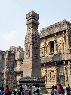 The amazing stone carvings at Ellora caves, Aurangabad. Wonderful Places, Beautiful Places, Monument Rocks, Incredible India, Amazing, India Travel, Heritage Site, Continents, Habitats