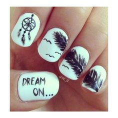 70 Cool Nail Designs ❤ liked on Polyvore featuring beauty products, nail care, nail treatments, nails and makeup