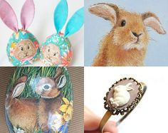 Happy Easter - Bunny Collection by Rebecca on Etsy--Pinned with TreasuryPin.com
