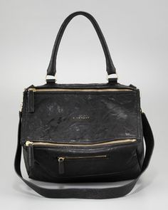 Givenchy Pandora Medium Shoulder Bag, Black - Bergdorf Goodman    I WANT THIS BAG!!!!