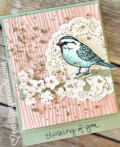 Best Birds stamp set and Birds & Blooms Thinlits Dies; card created by Peggy Noe, Stampin' Up! Demonstrator. Read more at prettypapercards.com