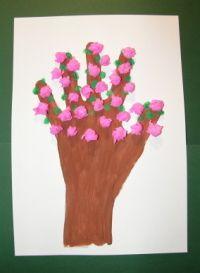 Rozkvitnutý strom Preschool Crafts, Kids Crafts, Diy And Crafts, Spring Time, Kid, Easter, Preschooler Crafts
