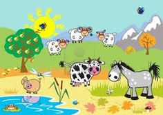 Illustration about Landscape with childish cartoon farm animals , children illustration,autumn season. Illustration of field, countryside, autumnal - 26460652 Wallpaper Gratis, Farm Cartoon, Sentimental Gifts, Felt Crafts, Farm Animals, Pikachu, Clip Art, Canvas Prints, Kids Rugs