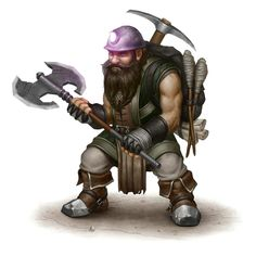Male Dwarf Miner - Pathfinder PFRPG DND D&D 3.5 5th ed d20 fantasy