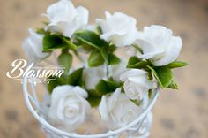 Romantic pins for wedding or everyday hairstyles Flowers made by hand of polymer…