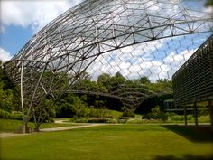 ASM geodesic dome designed by architect TC Howard of Synergetics, Inc in 1958.