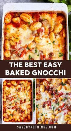 This Bolognese Gnocchi Bake is my number one emergency meal. Once the beef is browned, all that's left to do is stirring everything together in the casserole dish, then bake. This is such a quick prep, kid-friendly meal - perfect for those extra busy nights!   #casserole #casserolerecipe #dinner #easydinner #kidfriendlyfood #gnocchi #italianfood #familydinner Casserole Dishes, Casserole Recipes, Crockpot Recipes, Baked Spaghetti Casserole, Baked Gnocchi, Bolognese, Kid Friendly Meals, Family Meals, Italian Recipes