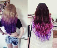 Beijinho Doce: Keraton Hard Colors Ultra Violet+Ombré Hair Roxo