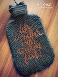 ... with warm feet!    Definitiv! Und deshalb gar nicht allzu viele Worte!       Gesehen hier  und hier , für gut befunden, nachgemacht. Gen...