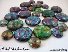 Sarah Jane's Craft Blog: Alcohol Ink Glass Gems