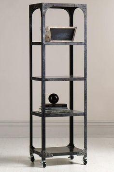 "Industry Bookshelf, 17""x14.5"", GREY ZINC: Home & Kitchen"
