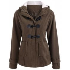 Winter Hooded Duffle Coat $17.99