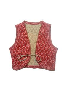 vintage INDIAN WAISTCOAT    xsmall by lesclodettes on Etsy, $49.00
