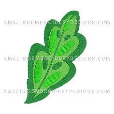 This free embroidery design is a leaf.