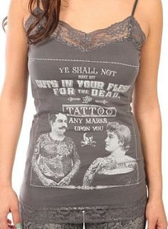 Tattoos for the Dead Camisole Punk Rock Gothic Alternative mens horror Steampunk tees