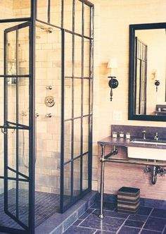 glass pane door shower
