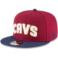 Men s Cleveland Cavaliers New Era Wine Navy 2-Tone 9FIFTY Adjustable Snapback  Hat 7cef5f19ada