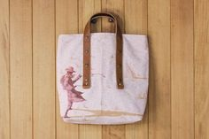 billy the kid w tote shopping bag by fabric & handle