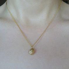 Gold plated cupcake charm necklace by BeckyMaeLoves on Etsy