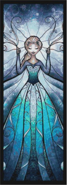 Frozen's Elsa Stained Glass Cross Stitch by CSDesignsbyLeah, $5.00