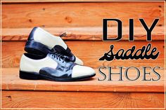 Make your own saddle shoes from a thrifted pair of Oxfords!    www.ThriftTrick.com