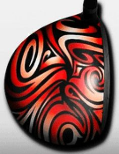 Personalized golf driver decal by Big Wigz Skins - Cool Swirls
